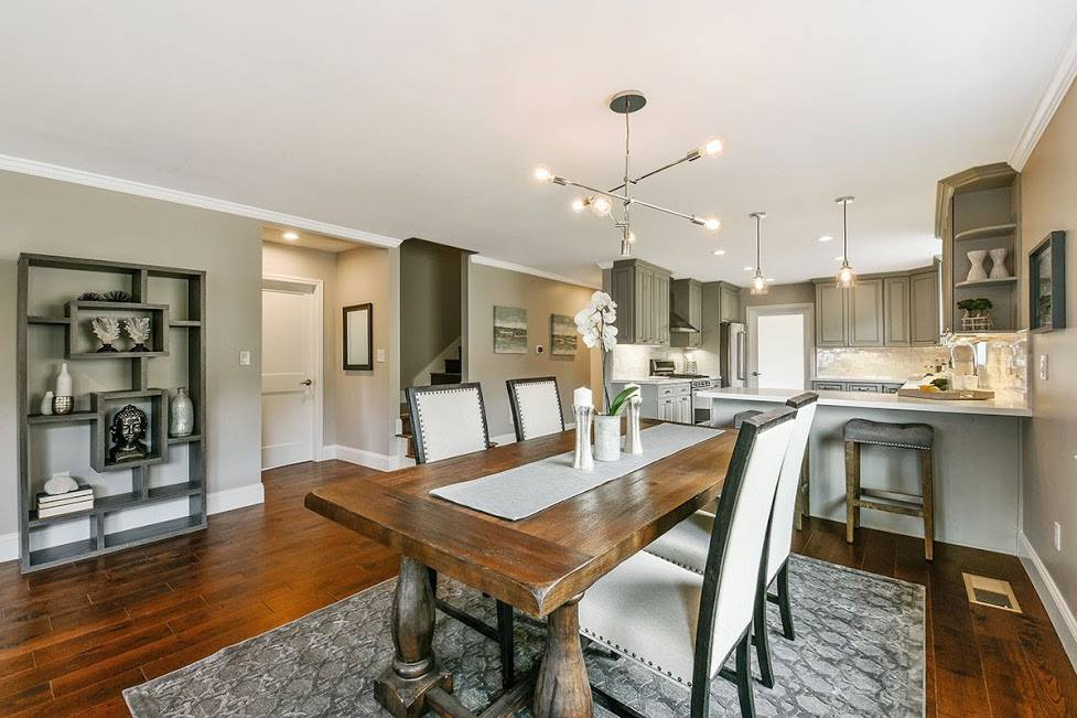 contemporary dining room and kitchen remodel in Antioch, California